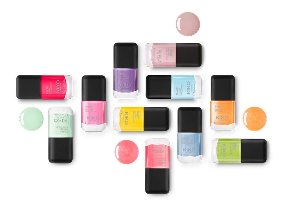 New colours Smart Nail Lacquer - KIKO MILANO