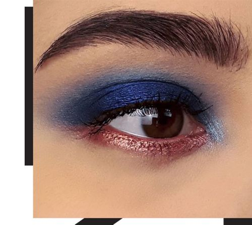 Electric blue makeup to be at the centre of attention