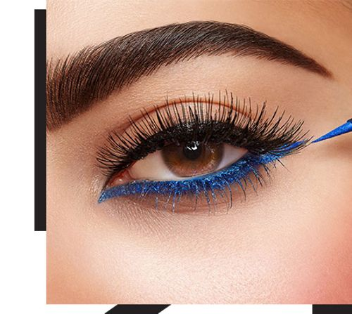 Show your true colours with blue and green eyeliners