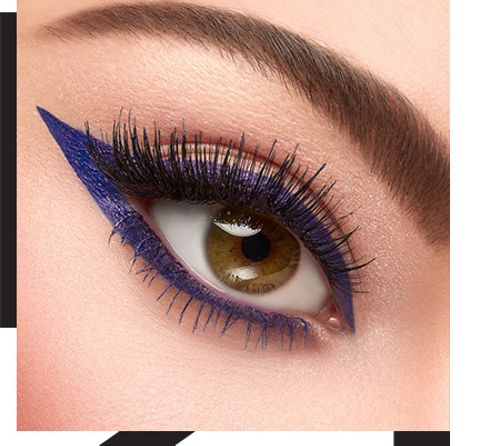Spark creativity with coloured eyeliners: purple & co.