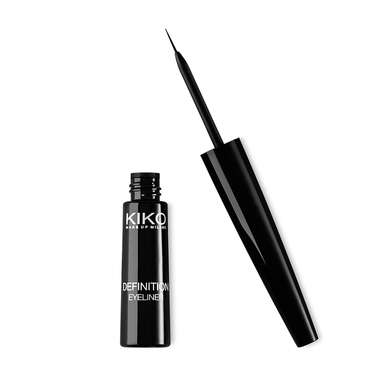 liquid eyeliner brush. kiko milano: definition eyeliner - liquid with fine brush applicator