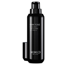 Flat brush with synthetic fibres, for applying fluid or cream foundation - Smart Foundation Brush 101 - KIKO MILANO
