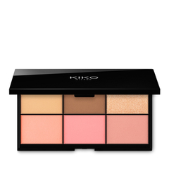 Face palette with 4 multi-finish highlighters - WATERFLOWER MAGIC HIGHLIGHTER PALETTE - KIKO MILANO