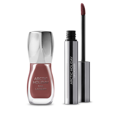 Kit for a complete lips and nails look, matching colour - ARCTIC HOLIDAY Lips & Nails Kit - KIKO MILANO