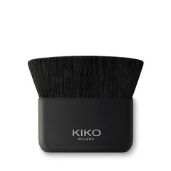 Kit de tres brochas para el rostro: una brocha de precisión para base de maquillaje, una brocha para polvos y una brocha para colorete e iluminador - Gold Waves Radiant Face Brush Kit - KIKO MILANO