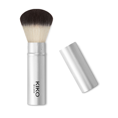 Rounded face powder brush with synthetic fibers - Smart Powder Brush 102 - KIKO MILANO