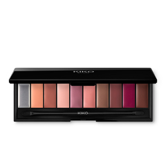 Eyeshadow palette with 10 shades of various finishes. Double-ended applicator included - Smart Eyeshadow Palette - KIKO MILANO