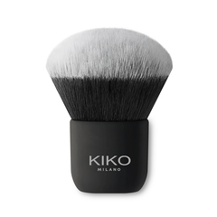 Plat gesneden kwast voor vloeibare of mousse-producten, synthetische haren - Face 05 Round Foundation Brush - KIKO MILANO